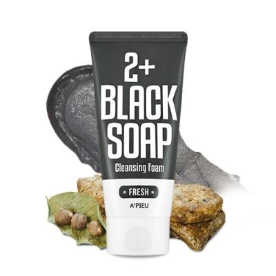 Rooney- A'PIEU Fresh Blacksoap 2+ Cleansing Foam 130ml